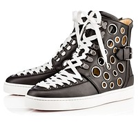 CL Christian Louboutin Women Men's popular Leather popular High Top Sneakers Shoes