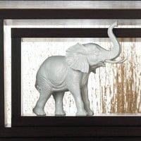 Textured Lucky White Elephant Statue