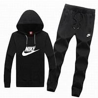 Nike tide brand men and women fashion leisure suits Black