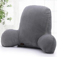 AsyPets Large Soft Comfortable Plush Rest Reading Pillow Arm Back Lumbar Head Support Cushion Zipper Easy Clean-20