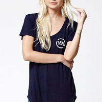 Young & Reckless Full Circle Scoop Neck T-Shirt - Womens Tee - Blue