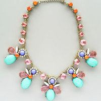 Pastel French Cafe Necklace