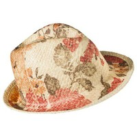 Mossimo Supply Co. Washed Floral Fedora Hat - Desert