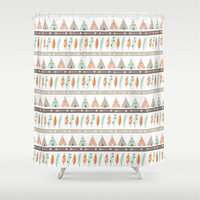 Teepee Tribal Shower Curtain