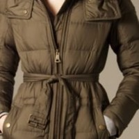Burberry - FUR TRIMMED PUFFER JACKET