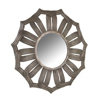 Bombay Company Antiqued Silver Lotus Mirror   Overstock.com Shopping - The Best Deals on Mirrors