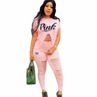 PINK TOP PANTS TWO PIECES