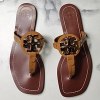 TORY BURCH[tb] New style square slippers-6