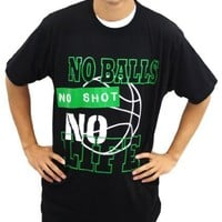 One Ball One Shot One Life Men's World Life Basketball Tee - X-Large, Black/Red