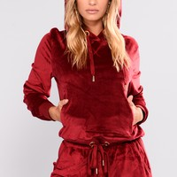 Robertson Velour Hoodies - Red