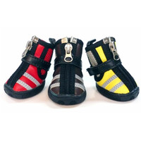 Camry Le VIP Pet Shoes Dog Sneakers Rubber Boots - Size 5-Color coffee