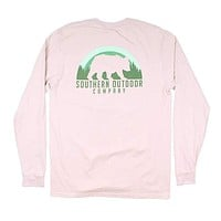Bear Long Sleeve Tee in Oyster Gray by Southern Outdoor Co.