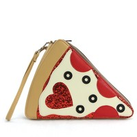 Wristlet/Hand Purse Pepperoni Slice Pizza Sold By GO FIND YOURSELF