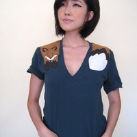 Wrapped Fox T-shirt in Forest Green
