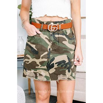 Camo Around Here Often Camouflage Skirt