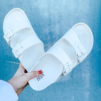 Drift Away Slides WHITE