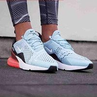 Nike Air Max 270 Stylish Women Personality Transparent Air Cushion Running Sport Shoe Sneakers I
