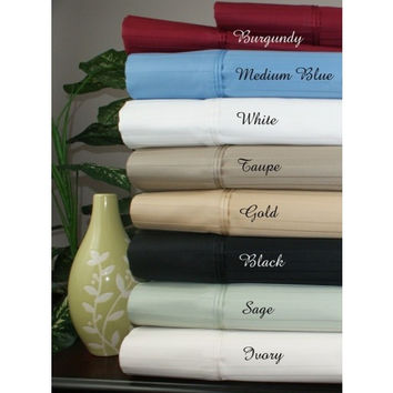 1000 Thread Count Striped Egyptian Cotton Bed Sheet Sets in Full