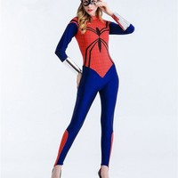 S-XXL Adult Women's spider Costume Game cosplay Sexy Wonder Woman superman Tight-fitting uniforms temptation Halloween Costumes