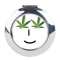 Pot Head Emote Round Compact Mirror> The Pot Head Emote> 420 Gear Stop