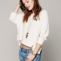 Free People Crochet Back Pullover