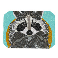 "Art Love Passion ""Racoon in Grass"" Gray Teal Place Mat"