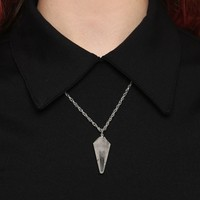 Ritual Crystal Necklace - Quartz - Jewelry - Accessories at Gypsy Warrior