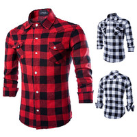 Checkered Design Slim Fit Shirt