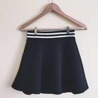 Corrine Black Contrast Hem Skirt