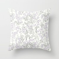 purple victorian Throw Pillow by Pink Berry Patterns
