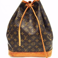 Vintage Women's Louis Vuitton Purse Bag Handbag Noe monogram drawstring tote