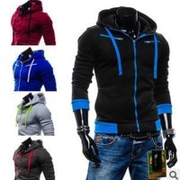 Men Stylish Fleece Plus Size Hats Hoodies Jacket [6528872387]