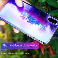 Apple iPhone X 10 Rainbow Case Screen Protector Tempered Guard Shield Shell Back