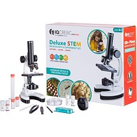 IQCrew by AmScope Kids Beginner Microscope STEM Science Kit for Students