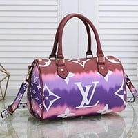 Samplefine2 Louis Vuitton LV Bag Gardient Could Colorful Handbag Pillow bag Purple&Rust red