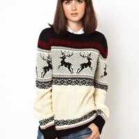 Pop Boutique Reindeer Knitted Holidays Sweater