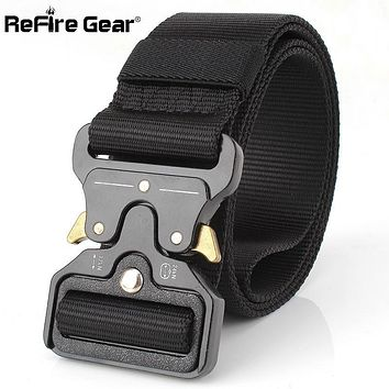 ReFire Gear SWAT Military Equipment Army Belt Men Safety Knock Off US Soldier Combat Tactical Belts Molle Nylon Waistband 4.5cm