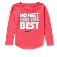 Nike Little Girls 2T-6X No Rest For The Best Long Sleeve Tee | Dillards