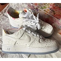 Nike Air Force One AF1 CNY paper-cut color flowers casual sports shoes men and women sports shoes-2