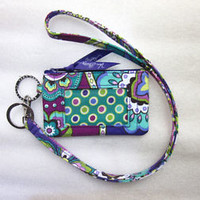 *New With Tags*Vera Bradley Zip ID Case and Lanyard in Heather