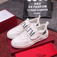 Valentino White Hot Sale Men Trainers Casual Sports Shoes Sneakers