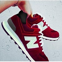 New Balance Z-shaped shoes sports casual running shoes tide retro shoes Red