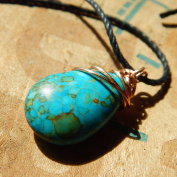 Wire wrapped Chrysocolla Necklace