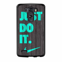 Nike Just Do It Wood Colored Darkwood Wooden Fdl LG G3 Case