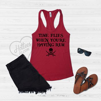 Time Flies When You're Having Rum Pirate Tank Top