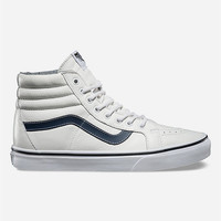 Vans Leather Sk8-Hi Reissue Shoes White  In Sizes