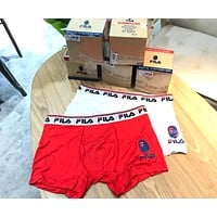 FILA x BAPE joint men's comfortable breathable boxer briefs two-piece