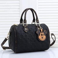 LV Louis Vuitton Monogram embossed logo handbag shoulder bag