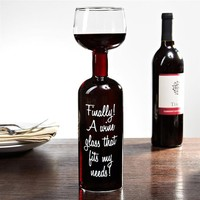 BigMouth Inc Ultimate Wine Bottle Glass