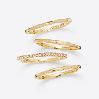 Hammered Pave Stackable Ring Set | Ann Taylor